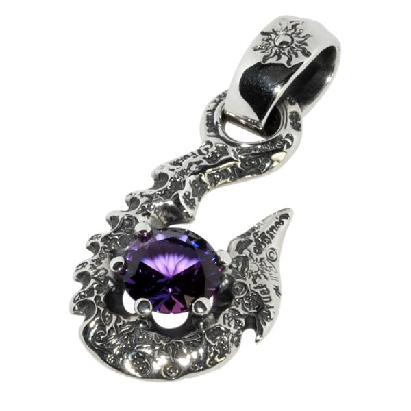 BWL(ビルウォールレザー)10' Fish Hook w/stone #2 Purple 10'フィッシュフック w/ストーン PN987