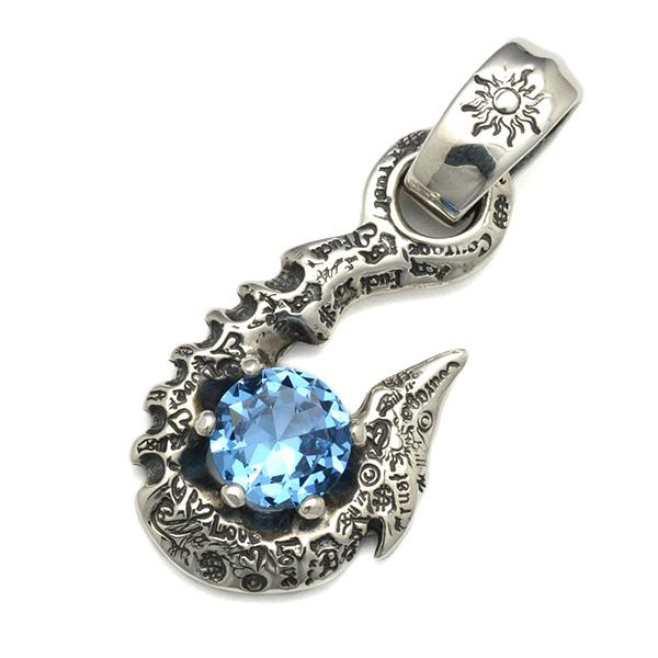 BWL(ビルウォールレザー)10' Fish Hook w/stone #12 L.blue 10'フィッシュフック w/ストーン PN987