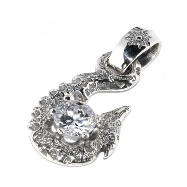 BWL(ビルウォールレザー) 10' Fish Hook w/stone #4 Clear 10'フィッシュフック w/ストーン PN987