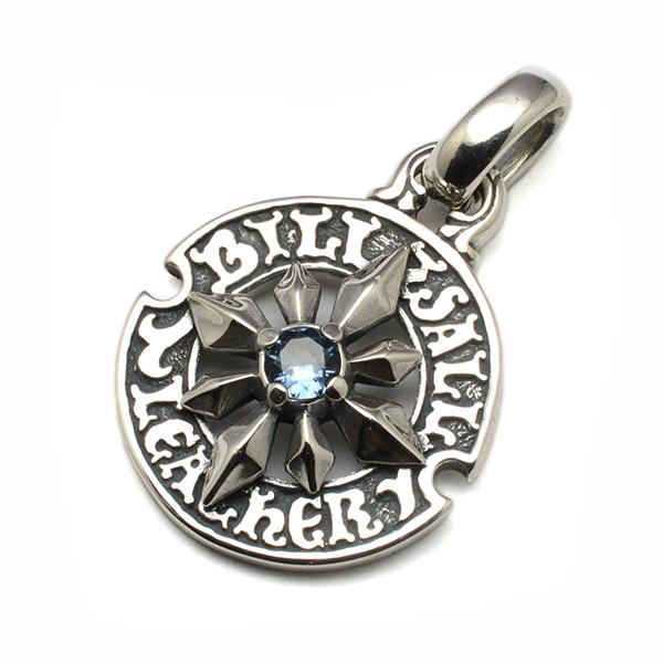 BWL(ビルウォールレザー)  Custom / Mid Star on circle logo Pendant w/Stone カスタムペンダント