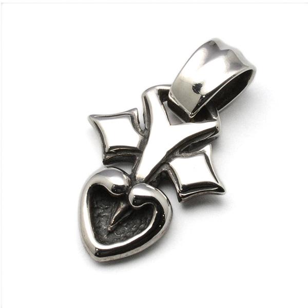 BWL(ビルウォールレザー) C317 Pierced Heart Charm