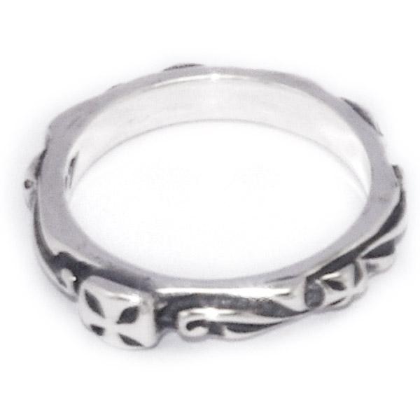 BWL(ビルウォールレザー)  Thin cross Ring シンクロスリング R202