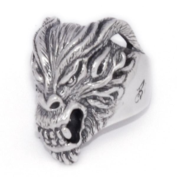 BWL(ビルウォールレザー)  Evil Dragon Ring エヴィルドラゴンリング R354