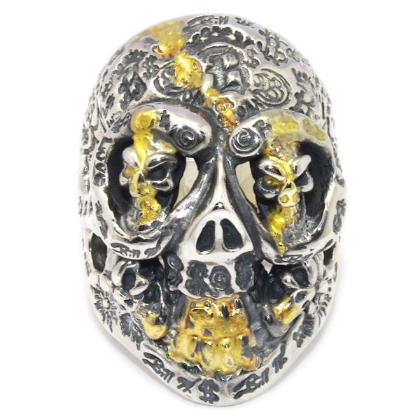BWL(ビルウォールレザー)R346 Custom Graffiti Master Skull w/2 Skull Eyes グラフィティーマスタースカル【カスタムアイテム】