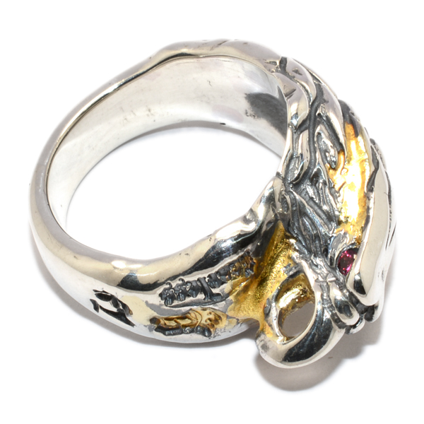 BWL(ビルウォールレザー)Medium Eagle Ring w/Stones Gold Solder ミディアムイーグルリング w/ストーン