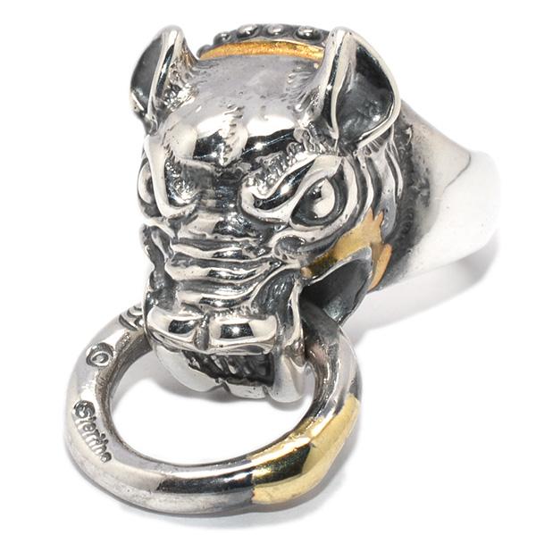BWL(ビルウォールレザー)Boar w/mouth ring gold overlay R424C ボアーw/マウスリング ゴールドオーバーレイ