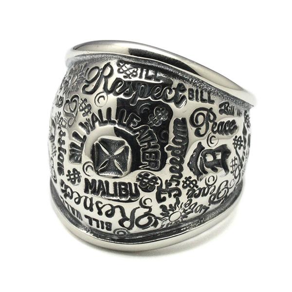 BWL(ビルウォールレザー)R445/Graffiti Dome Ring グラフィティドームリング