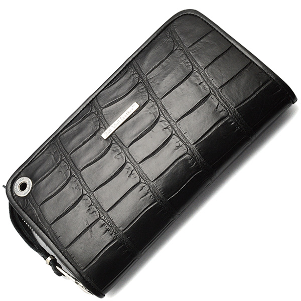 BWL(ビルウォールレザー) W949 Zipper Alligator Black ジッパーアリゲーター プレミアムブラック