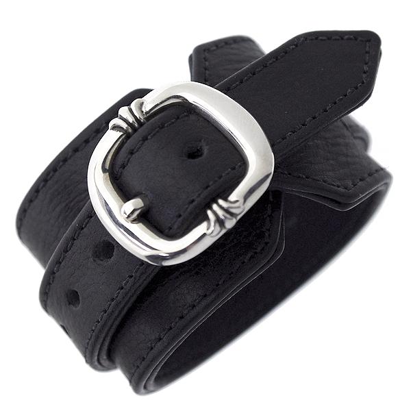 CHROME HEARTS(クロムハーツ) R&Rレザーブレスレット Leather Bracelet R&R