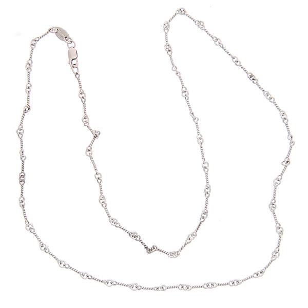 CHROME HEARTS(クロムハーツ) 18Kホワイトゴールド ツイストチェーン ネックレス Twist Chain 18K White Gold