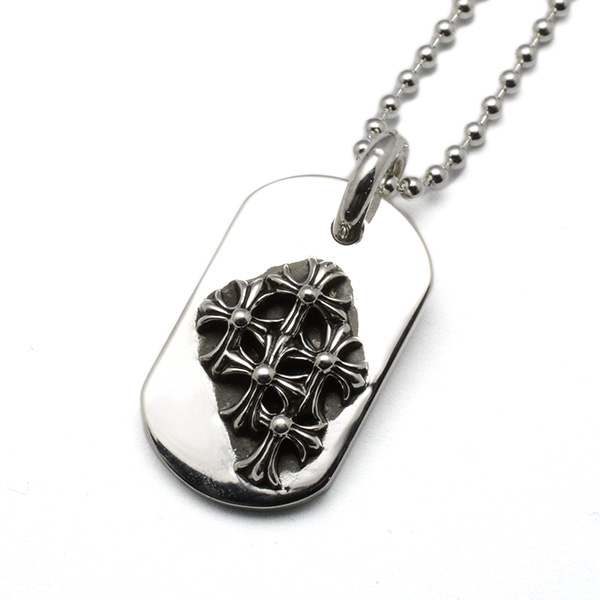 CHROME HEARTS(クロムハーツ) レイズドセメタリードッグタグスモール【チェーン付】 Raised Cemetery DogTag Small