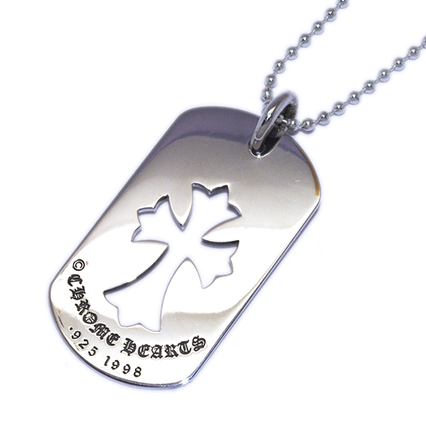 CHROME HEARTS(クロムハーツ)DogTag-CH Cross CHクロスドッグタグ chdt018