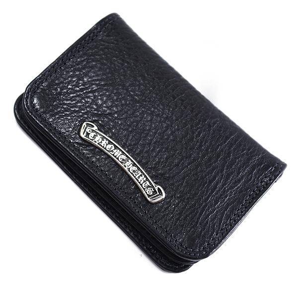 CHROME HEARTS(クロムハーツ) カードケース#2 ブラックヘビーレザー Wallet Card Case #2 Black Heavy Leather