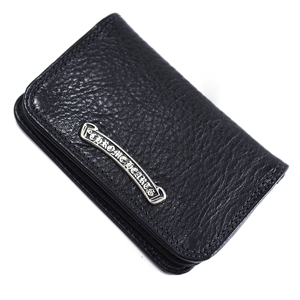 CHROME HEARTS(クロムハーツ) カードケース#2 ブラックヘビーレザー Wallet Card Case #2 Black Heavy Leather