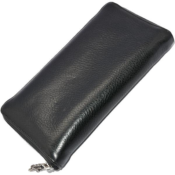 CHROME HEARTS(クロムハーツ)  REC F ZIP #2 ウォレット/ブラックレザー・プレーン 財布