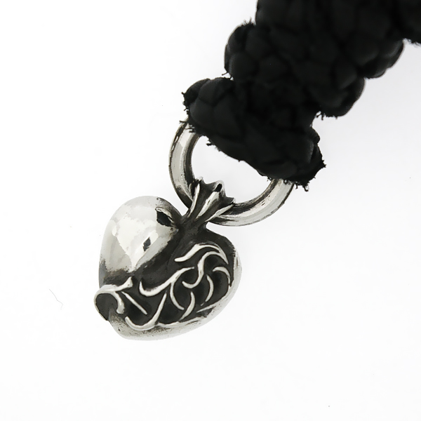 CHROME HEARTS(クロムハーツ) ハートペンダント【革紐付】 HEART PENDANT ネックレス