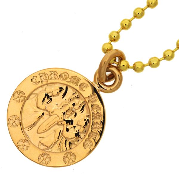 CHROME HEARTS(クロムハーツ) 22Kゴールド エンジェルメダルチャーム ペンダント【チェーン付】