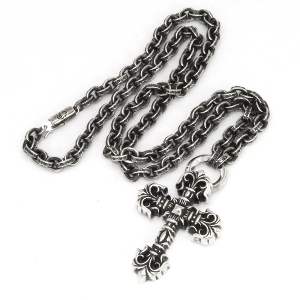 CHROME HEARTS(クロムハーツ) フィリグリークロス/ペーパーチェーン/ Filigree Cross w/Paper Chain 20inch