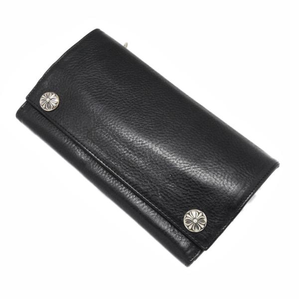 CHROME HEARTS(クロムハーツ)ロングウォレットブラックヘビーレザー Long Wallet BK Heavy Leather