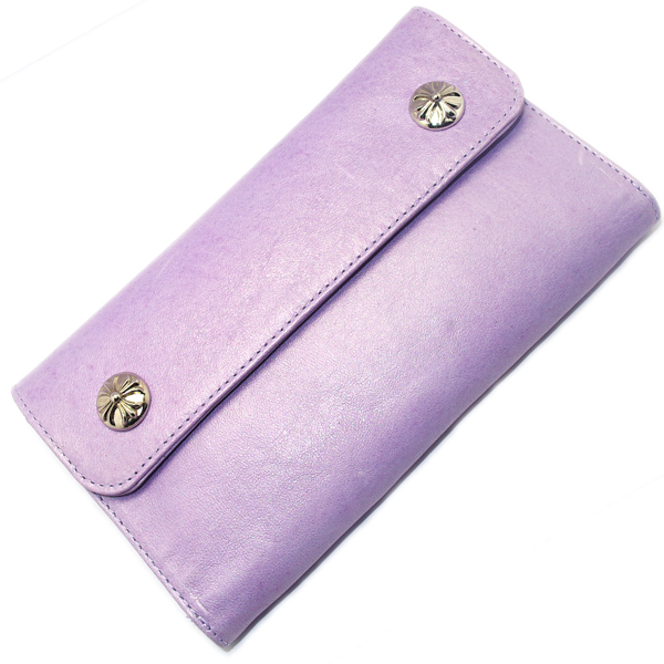 CHROME HEARTS(クロムハーツ)Wave Wallet/Lavender CH Plus Button ウェーブウォレット/ラベンダー