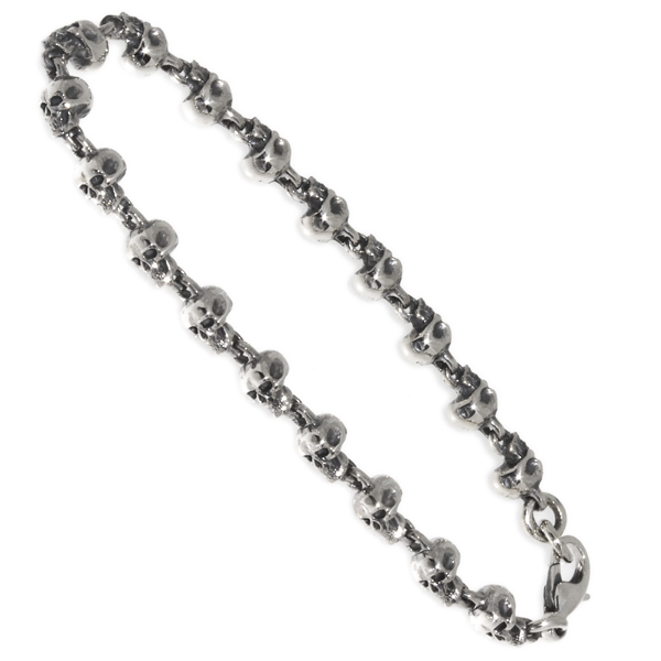 CRAZY PIG DESIGNS(クレイジーピッグ) ロザリースカルブレスレット Rosary Skull Bracelet #884B