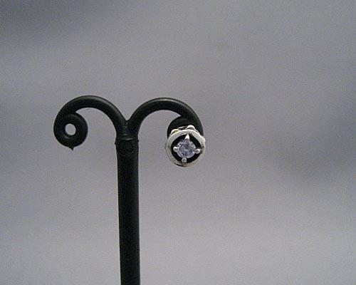 DEAL DESIGN(ディールデザイン) スパイクピアスw/CUT STONE(ジルコニア) 390350
