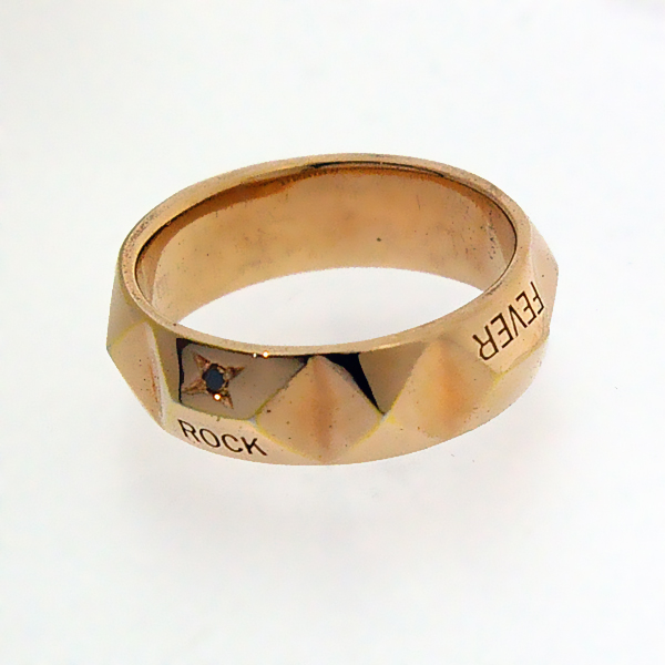 DEAL DESIGN(ディールデザイン) ミッションスタッズリング/ピンク&ブラックダイヤ 391210【人気アイテム】