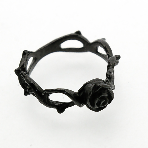 DEAL TEARS(ディールティアーズ) ケーブルローズリング/ブラック 399203(BK)