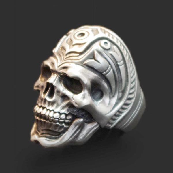 Dualflow(デュアルフロウ)haida skull ring 【DFR-15】