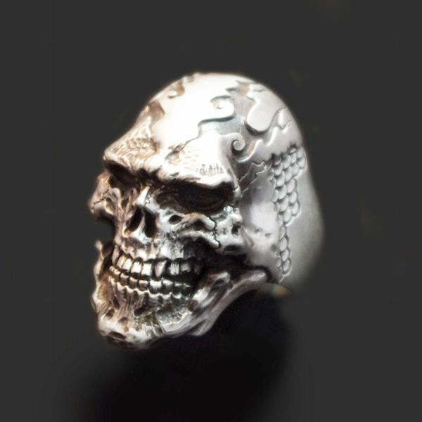 Dualflow(デュアルフロウ)doragon skull ring 【DFR-01】