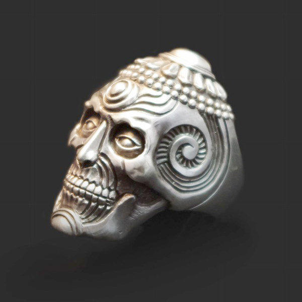 Dualflow(デュアルフロウ)revere skull ring 【DFR-10】