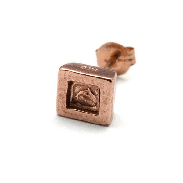 DELPHI(デルフィー)square hallmark pierce  dpi4-10KRG 【片耳】