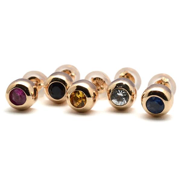DELPHI(デルフィー)sapphire pierce 10KYG dpi6【片耳】