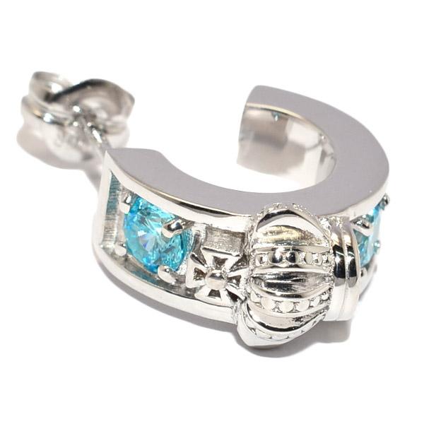 DUB collection(ダブコレクション)DUBj-298-3 Crown Hoop Pierce BLUE クラウンフープピアス【片耳用】