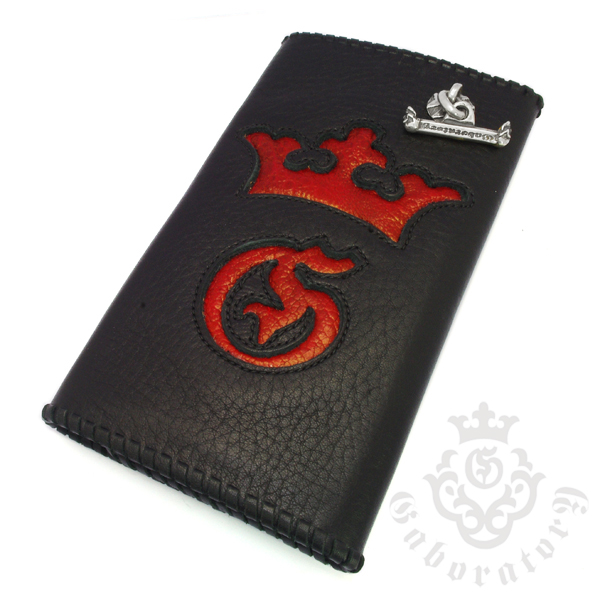 Gaboratory(ガボラトリー) Buffalo skin with red frog wallet (G&Crown) / Frog002 バッファロースキンレザーウォレット