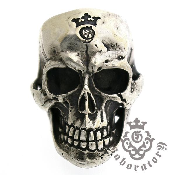 Gaboratory(ガボラトリー) Large Skull Ring with Jaw ラージスカルリングw/ジョー157-A