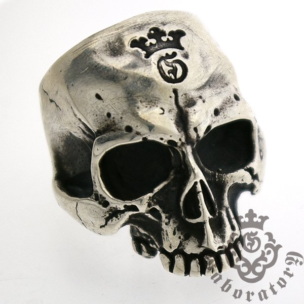 Gaboratory(ガボラトリー) Large Skull Ring without Jaw ラージスカルリング 144-A