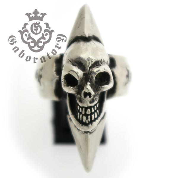 Gaboratory(ガボラトリー) Skull with spike ring スカルw/スパイクリング 152-A