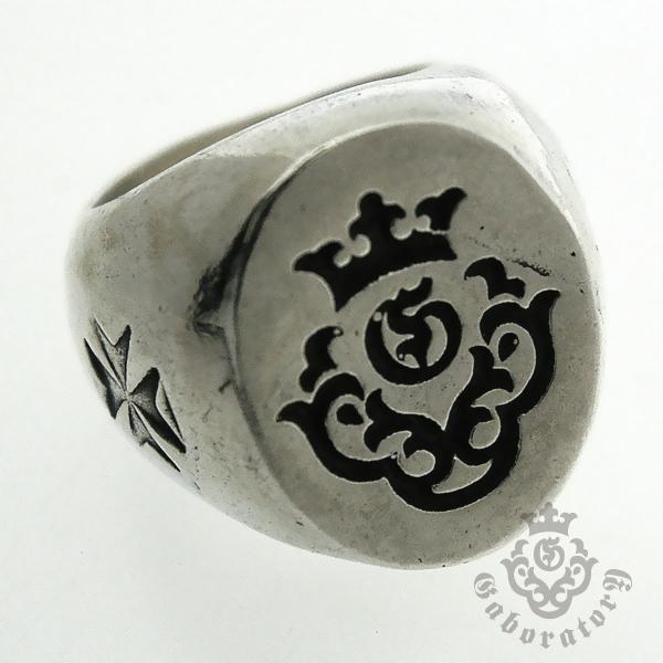 Gaboratory(ガボラトリー) Wide Gaboratory logo large signet ring 156-A
