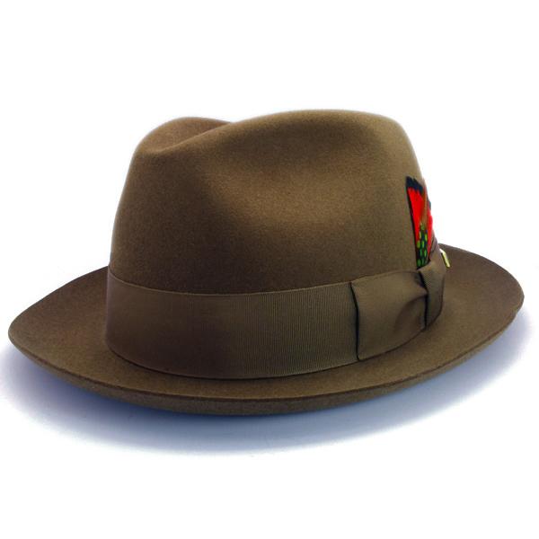 KNOX(ノックス) 【日本製最高品質帽子】マーキュリーハット ラビットファーフェルト100% KNT359(ベージュ)