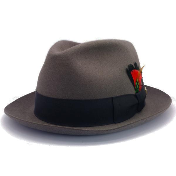 KNOX(ノックス) 【日本製最高品質帽子】マーキュリーハット ラビットファーフェルト100% KNT328(チャコール)