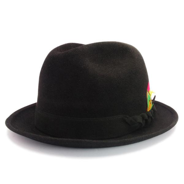 KNOX(ノックス) 【日本製最高品質帽子】チロルハット ラビットファーフェルト100% KNT348(ブラック)