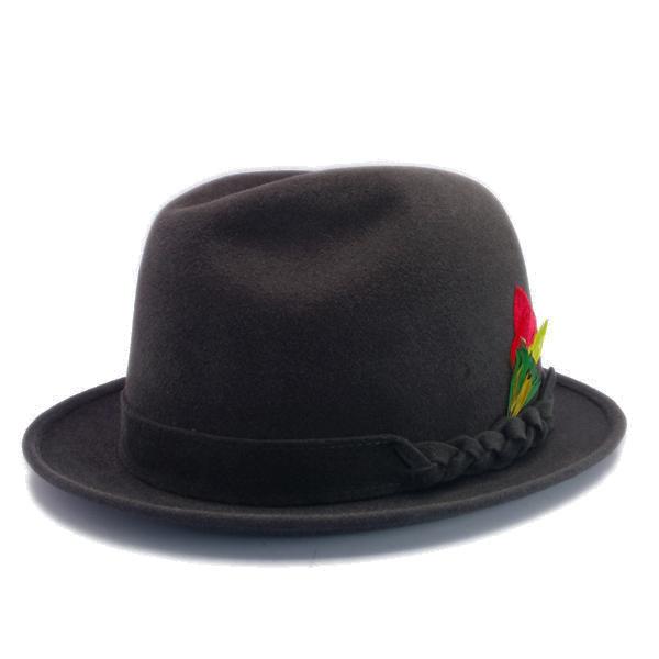 KNOX(ノックス) 【日本製最高品質帽子】チロルハット ラビットファーフェルト100% KNT328(チャコール)