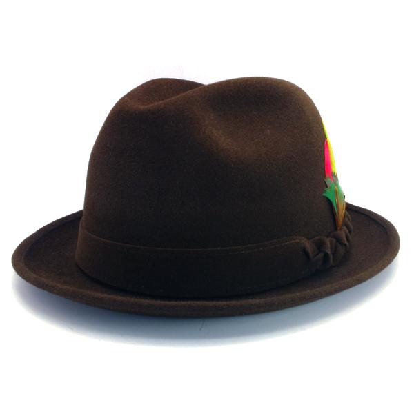 KNOX(ノックス) 【日本製最高品質帽子】チロルハット ラビットファーフェルト100% KNT378(ブラウン)