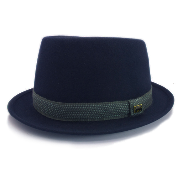 KNOX(ノックス) 【日本製最高品質帽子】プレインポークパイハット ラビットファーフェルト100% KFSP398(ネイビー)