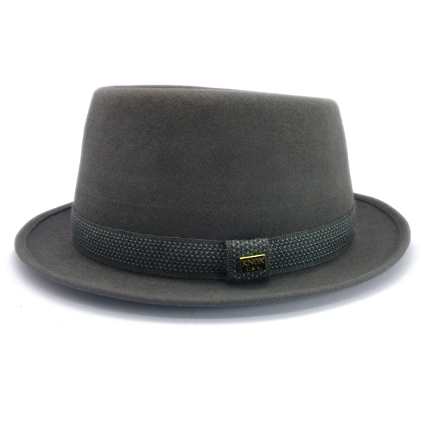 KNOX(ノックス) 【日本製最高品質帽子】プレインポークパイハット ラビットファーフェルト100% KFSP338(グレー)
