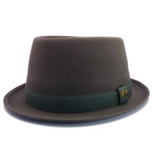 KNOX(ノックス) 【日本製最高品質帽子】プレインポークパイハット ラビットファーフェルト100% KFSP328(チャコール)