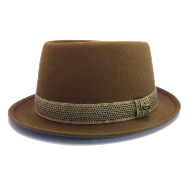 KNOX(ノックス) 【日本製最高品質帽子】プレインポークパイハット ラビットファーフェルト100% KFSP368(キャメル)