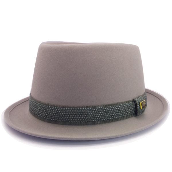KNOX(ノックス) 【日本製最高品質帽子】プレインポークパイハット ラビットファーフェルト100% KFSP318(ライトグレー)