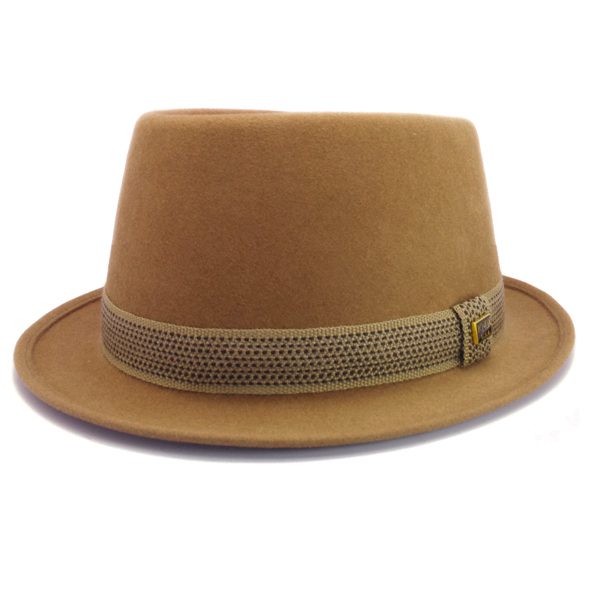 KNOX(ノックス) 【日本製最高品質帽子】プレインポークパイハット ラビットファーフェルト100% KFSP359(ベージュ)